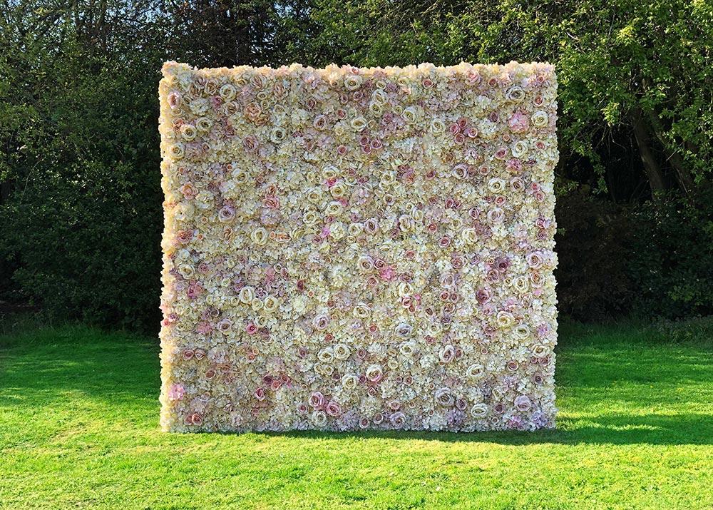 A wedding flower wall